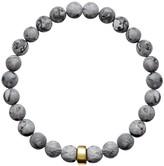 Ora Pearls ARO Men's Map Jasper Bracelet Gold Bead - Large