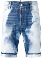 DSQUARED2 heavily bleached denim shorts - men - Cotton - 42