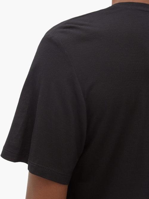 Thumbnail for your product : FRANCES DE LOURDES Frankie V-neck Jersey T-shirt - Black