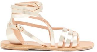 Ancient Greek Sandals Satira Wraparound Leather Sandals - Gold