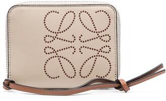 Loewe Perforated Logo Zipped Wallet