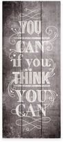 """Graham & Brown You Can If You Think You Can"""" Wood Print Wall Art"""
