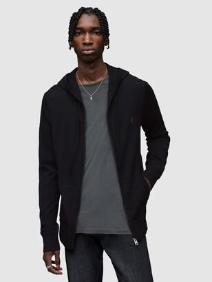 AllSaints Mode Merino Wool Zip Up Hoodie