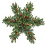 Crestwood National Tree Company 32 in. Artificial Spruce Snowflake Wall Decor