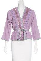 Moschino Embellished Tweed Jacket