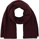 Barneys New York WOMEN'S MARLED BIRDSEYE-STITCHED OVERSIZED SCARF