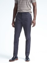 Banana Republic Slim Solid Non-Iron Stretch Cotton Pant
