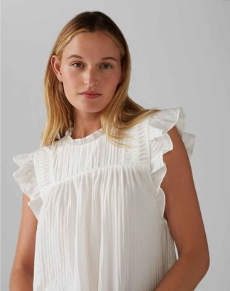 Club Monaco Ruffle Sleeve Top
