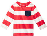 First Impressions Rugby-Striped Long-Sleeve Cotton T-Shirt, Baby Boys, Created for Macy's