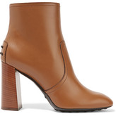 Tod's Leather Ankle Boots - Light brown