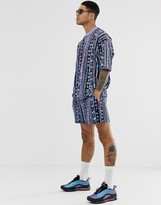 Asos Design DESIGN festival two-piece shorts with geo-tribal print