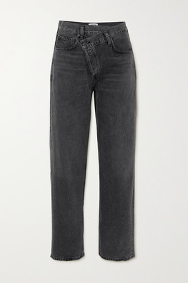 AGOLDE Criss Cross Upsized High-rise Tapered Jeans - Gray