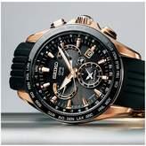 Seiko Gents Astron GPS Black Dial Solar Dual Time Bracelet Watch