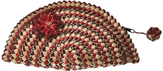 Flora Palm Clutch - Natural & Red