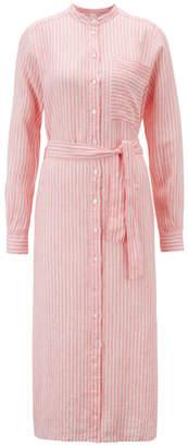 HUGO BOSS PINK SHIRT DRESS - 16 - Pink