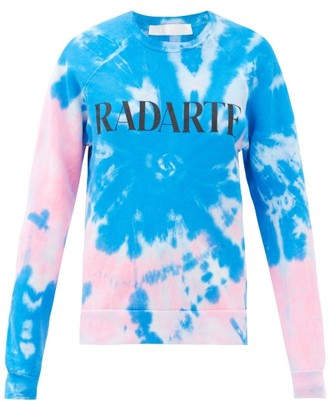 Rodarte Radarte-print Tie-dye Cotton-blend Sweatshirt - Blue Multi