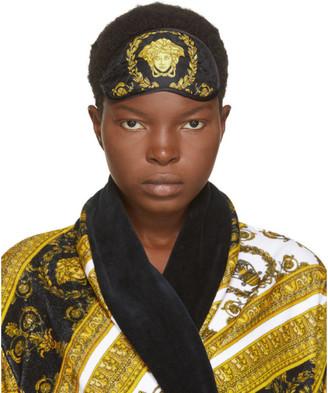 Versace Black Silk Medusa Eye Mask