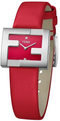 Fendi FF logo embellished watch