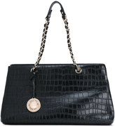Versace croc-effect shoulder bag
