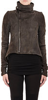 Rick Owens Women's Shearling Naska Jacket-DARK GREY