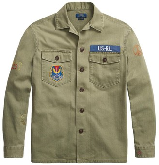 Polo Ralph Lauren Long-Sleeve Cotton Herringbone Overshirt