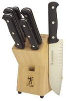 Zwilling J.A. Henckels JA EVERSHARP PRO Knife Block Set - 7 pc - Black/Silver