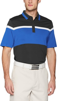 Cutter & Buck Men's Moisture Wicking Drytec Wide Scale Polo Shirt