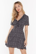 Nasty Gal Womens Daisy Little Thing Called Love Fit & Flare Dress - black - 4