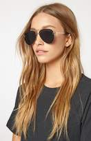 La Hearts Rimless Aviator Sunglasses