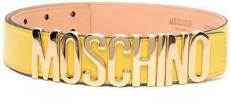 Moschino Logo-Plaque Adjustable Belt