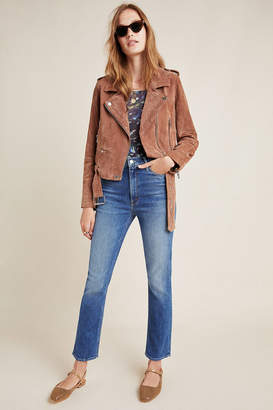 Mother The Dazzler Ultra High-Rise Straight-Leg Jeans