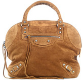 Classic suede bowling bag