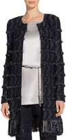 St. John Tara Fringe Tweed Jacket