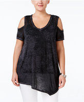 Style&Co. Style & Co. Plus Size Cold-Shoulder Top, Only at Macy's