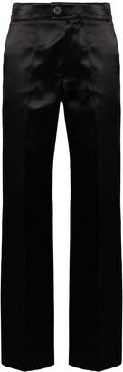 Kwaidan Editions High-Waisted Satin Trousers