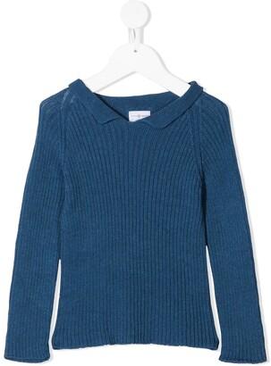 Violeta E Federico Ribbed Long Sleeved Polo Shirt