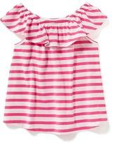 Old Navy Striped Off-the-Shoulder Swing Top for Toddler Girls