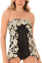 Miraclesuit Women's Tankini Tops BLW - Black & White Floral Cloisonne Bandini Top - Women