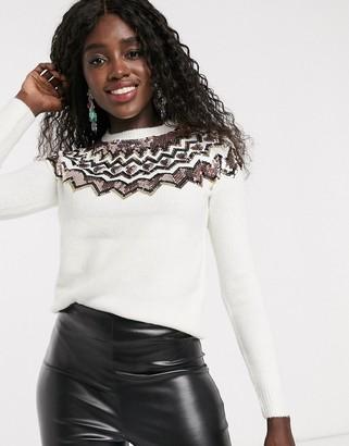 Lipsy Sequin Yolk Fairilse sweater