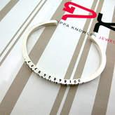 Pippa knowles jewellery Thin Silver Barcode Cuff Bracelet