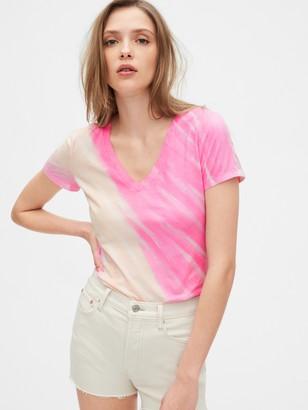Gap Vintage V-Neck Tie-Dye T-Shirt