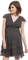 Motherhood Ruffle Front Maternity Dress