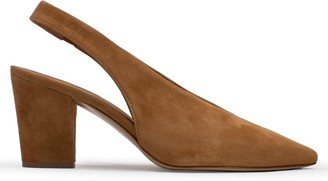 Calpierre Ramone Tan Suede Sling Back Court Shoes