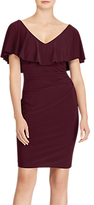 Lauren Ralph Lauren Tama Ruffled Overlay Jersey Dress, Rioja