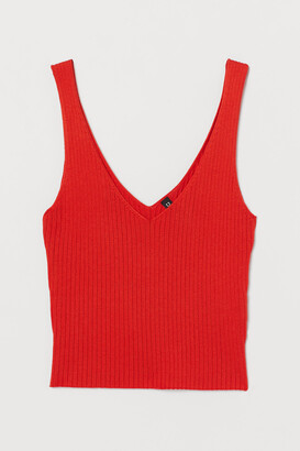 H&M Ribbed strappy top