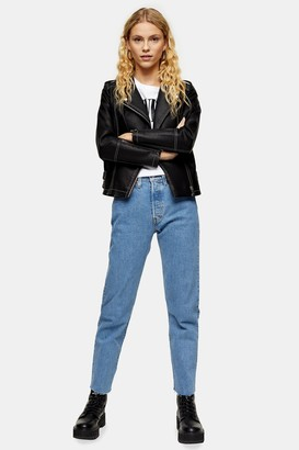 Levi's Womens 501 Cropped Straight Jeans By Bleach Stone