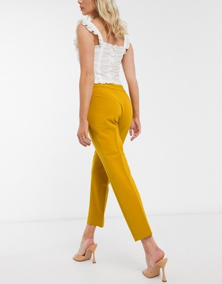 French Connection Awiti Whisper Ruthtailored Pants in Yellow