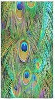 "Peacock Towel Peacock Feather Sale Custom Bath Towels Large Soft and Comfortable Travel Beach Bathroom Shower Washcloth Wrap for Men/Women 80% Polyester 20% Cotton, (30"" x 56"")"