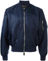 J.W.Anderson classic bomber jacket - men - Cotton/Leather/Nylon/Viscose - 46