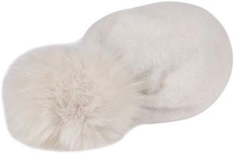 CA4LA White Cashmere-angora Blend Beanie